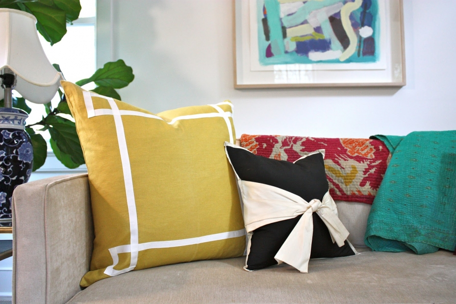 caitlin wilson textiles mustard signature pillow