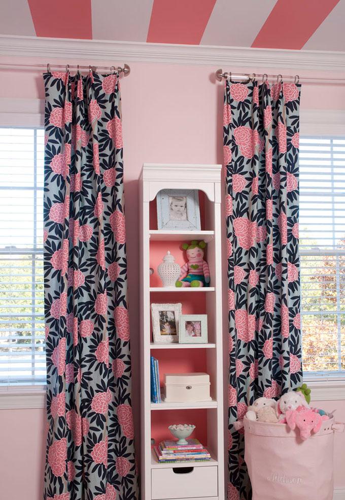 caitlin wilson textiles navy fleur chinoise