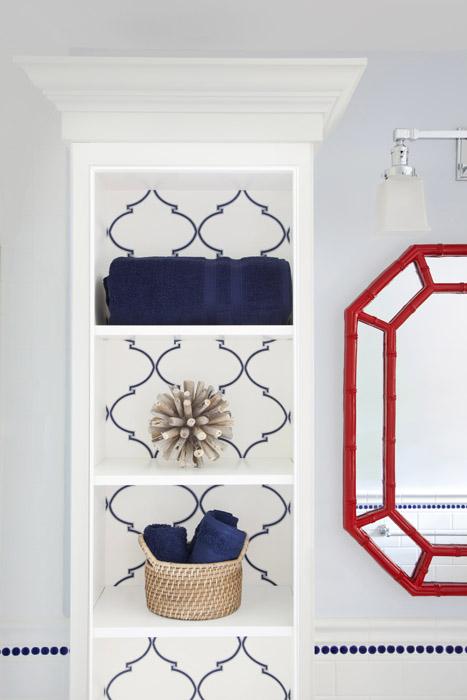 caitlin wilson textiles navy souk trellis