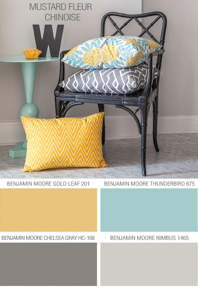 Caitlin Wilson Textiles Mustard Fleur Chinoise