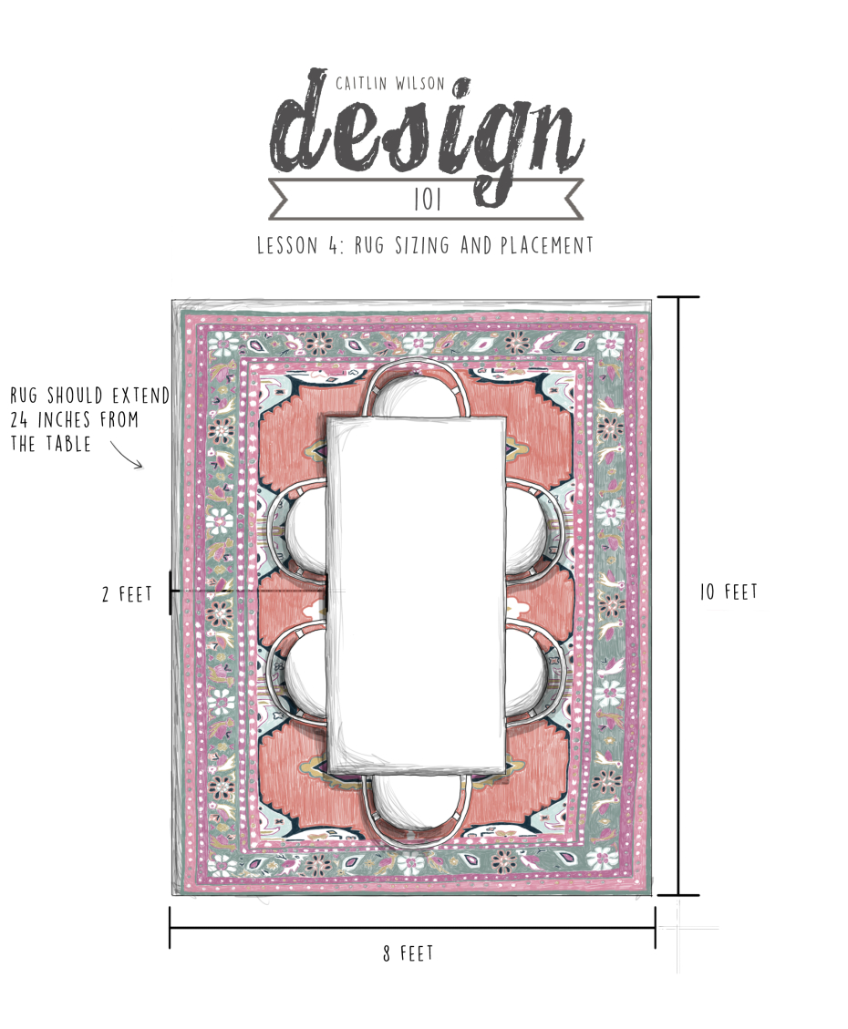 Caitlin Wilson | CW Design 101 | Lesson 4: Rug Sizing and Placement