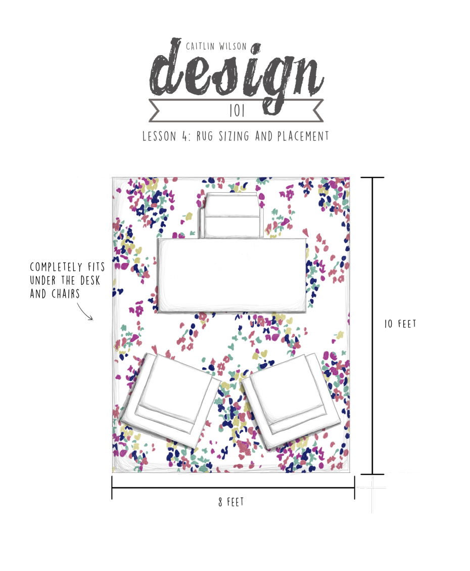 Caitlin Wilson Cw Design 101 Lesson 4 Rug Sizing And