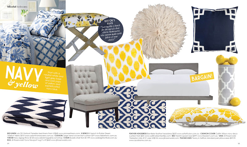 caitlin wilson happy birthday to adore home magazine - Navy Blue And Yellow Living Room Ideas